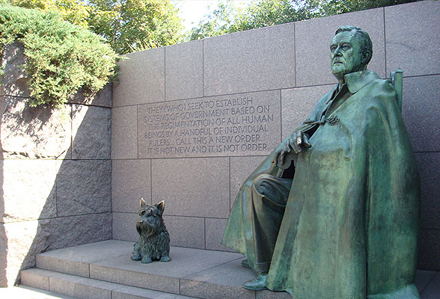 FDR memorial in Washington, DC