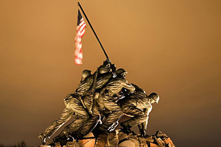 Iwo Jima Memorial in Rosslyn, Virginia